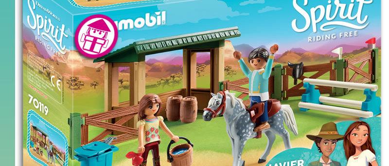 PLAYMOBIL 70119 Riding Arena with Lucky & Javier