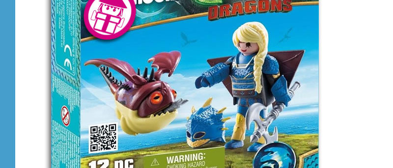 Dragons PLAYMOBIL 70041 Astrid with Flight Suit and Hobgobbler
