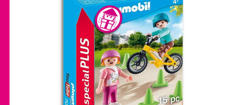 PLAYMOBIL 70061 Children with Skateboards and Bicycle