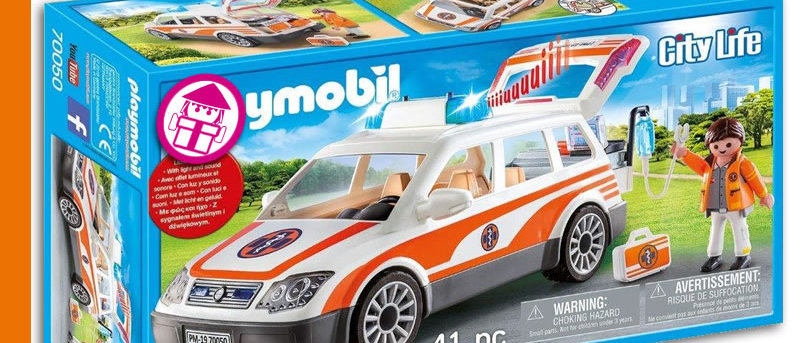 PLAYMOBIL 70050 Emergency Medical Vehicle