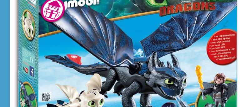 Dragons PLAYMOBIL 70037 Hipo & Toothless Playset