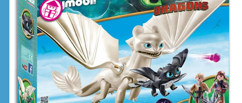 Dragons PLAYMOBIL 70038 Light Fury Playset