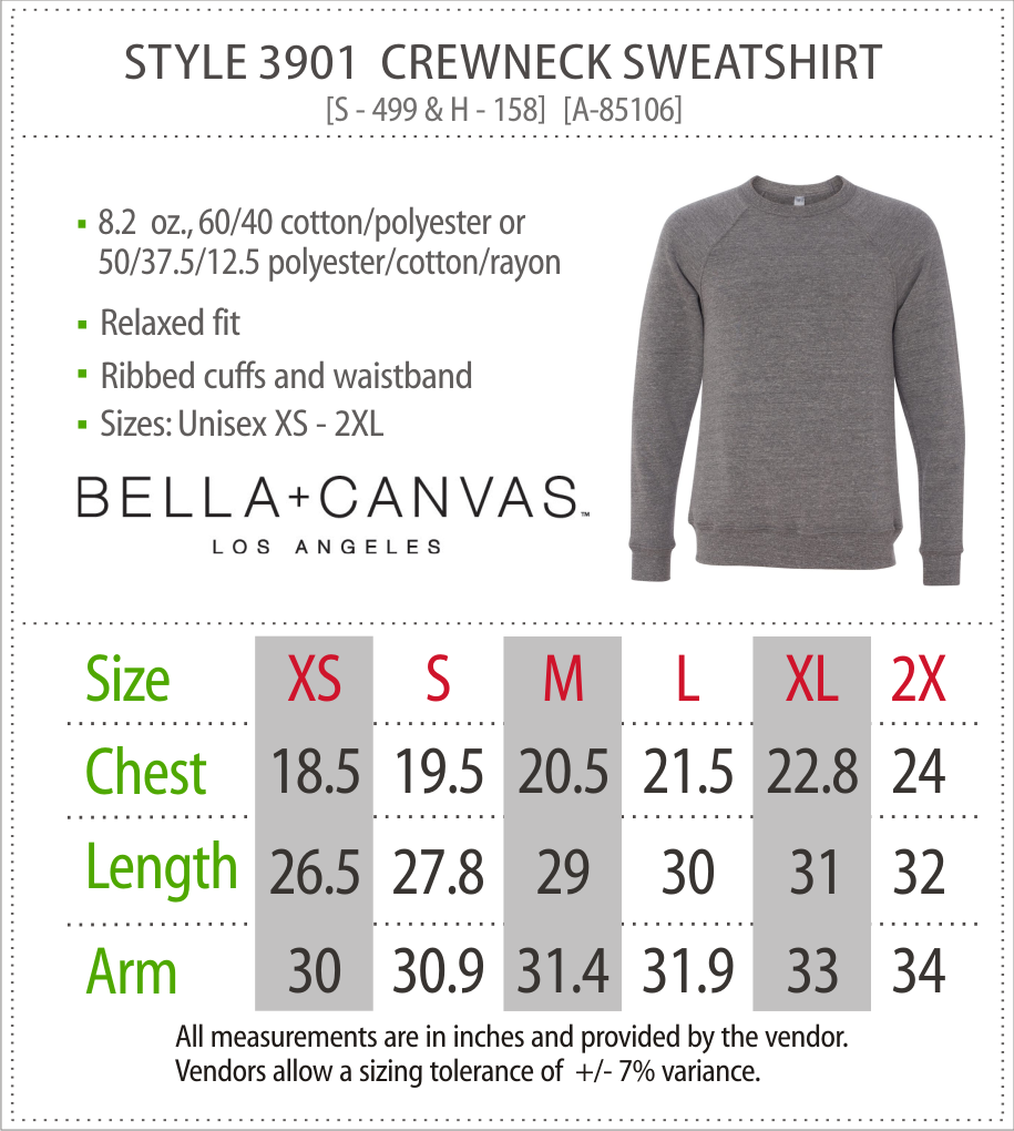 3901 - Canvas Crewneck Sweatshirt