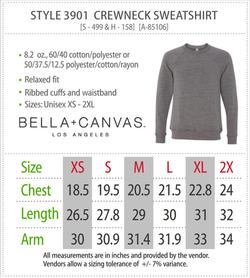 3901 - Canvas Crewneck Sweatshirt