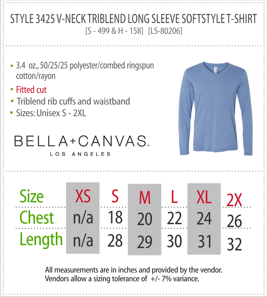 3425 - Canvas Triblend Long Sleeve T-Shirt