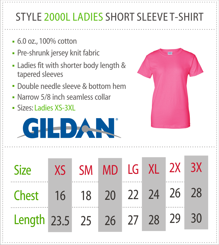 2000L - Ladies Gildan T-Shirt