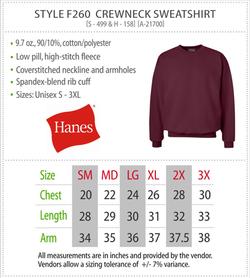 F260 - Hanes Crewneck Sweatshirt
