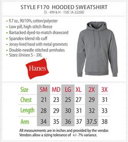 F170 - Hanes Hooded Sweatshirt