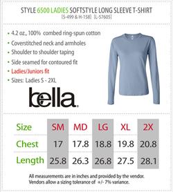 6500 - Bella Ladies Long Sleeve T-Shirt