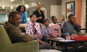 A scene from Black-ish dealing with media reports of police brutality.