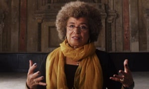 Political activist and academic Angela Davis in a scene from 13th.