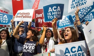 June 2015: the supreme court upholds Obama's healthcare reforms.