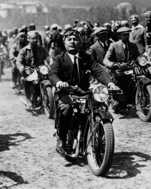 Italy's fascist leader Benito Mussolini.