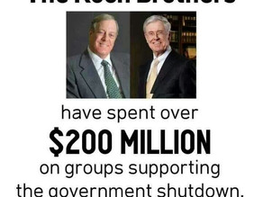 How the Kochs and their Friends Engineered the Federal Shutdown, Part Two