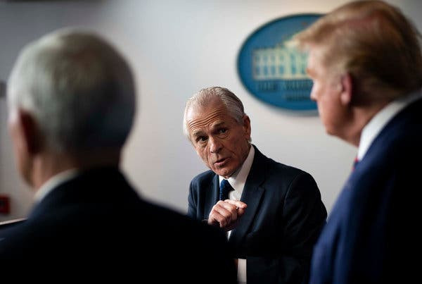 Peter Navarro, Mr. Trump's trade adviser, warned that a pandemic could cost the United States trillions of dollars and put millions of Americans at risk of illness or death.