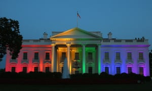 June 2015: the White House marks the supreme court's ruling in favor of same-sex marriage.