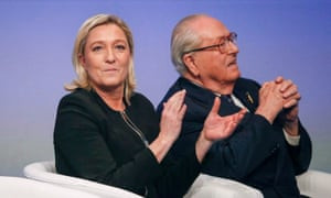 Marine Le Pen with her father, Jean-Marie Le Pen, in 2014.
