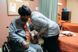 Vivian Majors takes care of her husband Martin who has Parkinson's disease.