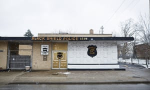 The facade of the Black Sheild Police Association Club, Cleveland.