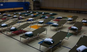 Camp Lejeune prepares to take in people fleeing Hurricane Florence in Jacksonville, North Carolina Wednesday.