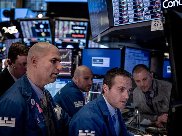 Traders at the New York Stock Exchange on March 9, when stocks suffered their worst single-day decline in more than a decade. Two days later, Mr. Trump announced restrictions on travel from Europe.