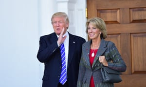 Donald Trump's selection for education secretary, Betsy DeVos, is part of a multibillionaire family that have long been hefty donors to advocacy groups linked to the Kochs.
