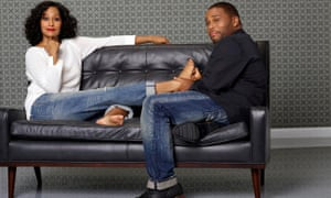 """Tracee Ellis Ross and Anthony Anderson as Rainbow Johnson and Andre """"Dre"""" Johnson in Black-ish."""