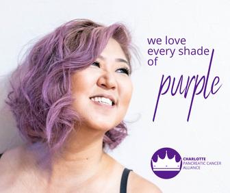 We love every shade of purple.
