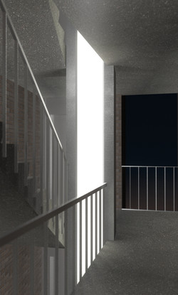 zicht verticale TL-koker trap
