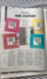 """Foto de uma página da Revista Donna impressa, com uma matéria do Me Lambe. O título é """"Sexo em cartaz"""""""