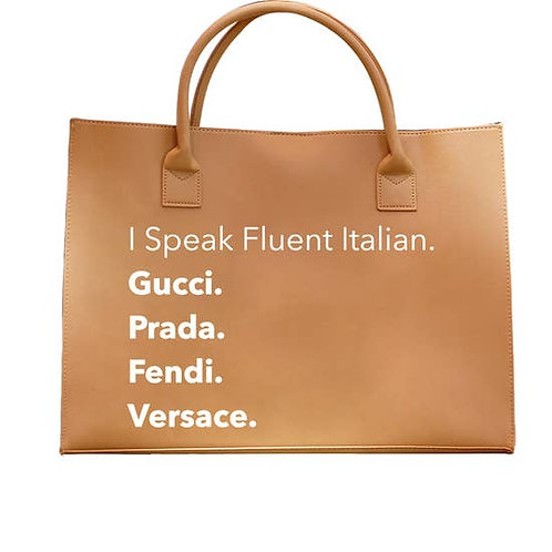 FLUENT ITALIAN - VEGAN TOTE