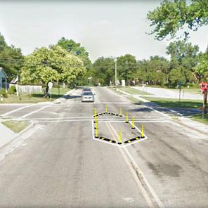 Semi-Permanent Pedestrian Island - Junction City