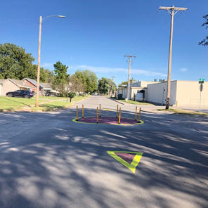 7th & Clay Roundabout along Bike Boulevard - Junction City
