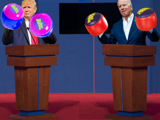 Presidential Debate replaced with Presidential Socker Boppers Fight
