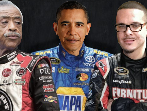 "NASCAR hires Al Sharpton, Barack Obama, Shaun King to implement ""Critical Race-Car Theory"""