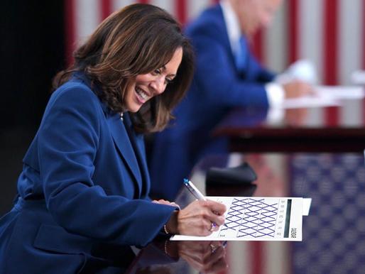 Giddy Kamala Harris counts the days before she takes over for Joe Biden as President