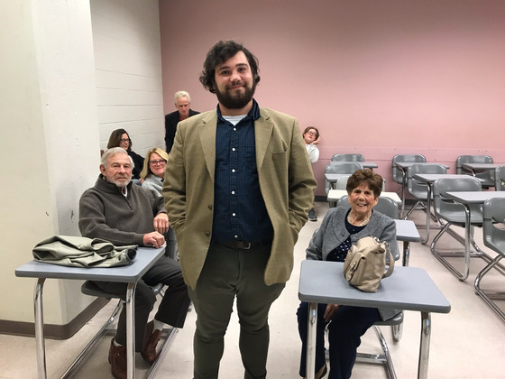Dr. Dylan Shields and his grandparents at his PhD defense