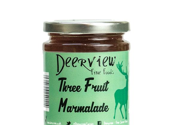 Three Fruit Marmalade 320g Deerview Fine Foods