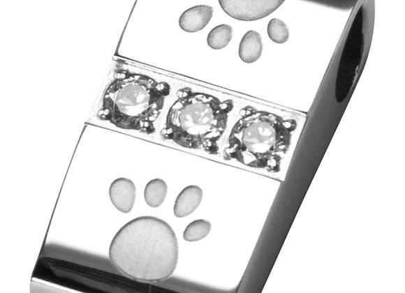 Magnet Kettenanhänger mit Pfoten und Zirkonia