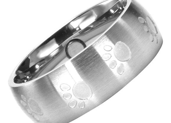 Magnet Ring Pfoten silber