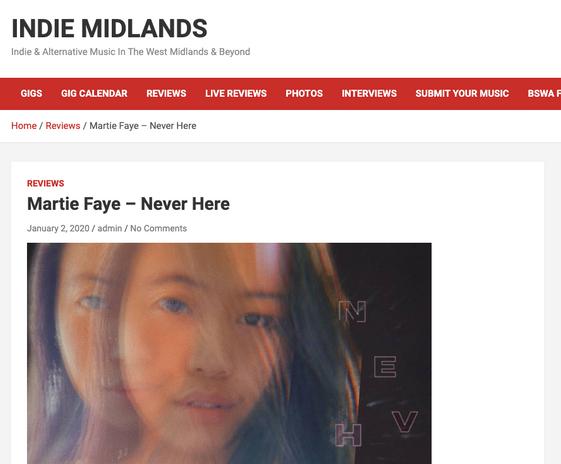 Indie Midlands-Martie Faye