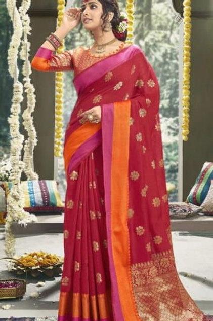 Red Fancy Saree