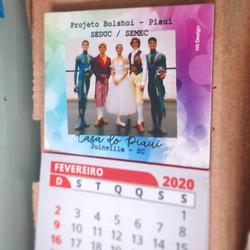 Imã + calendário