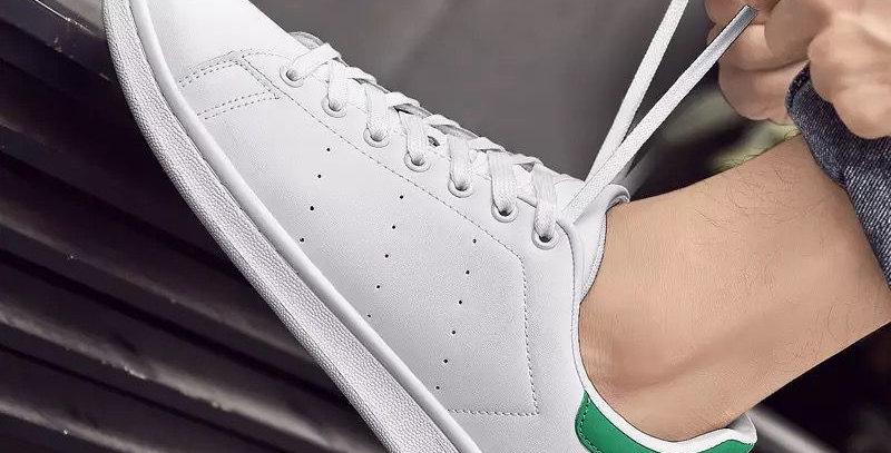 Zapatillas BASIC atadores detalles verdes