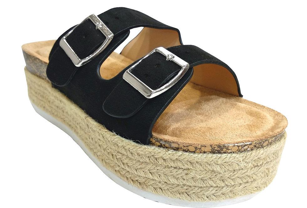 Sandalias con hebillas y plataforma