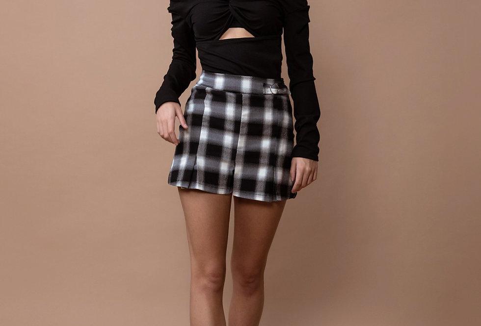 Short falda estampado de cuadros