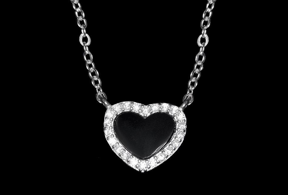 Colgante corazón de plata