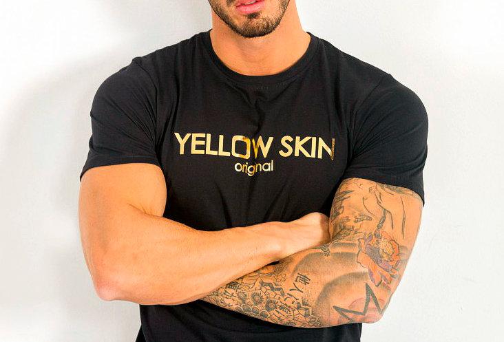 Camiseta logo Yellow Skin