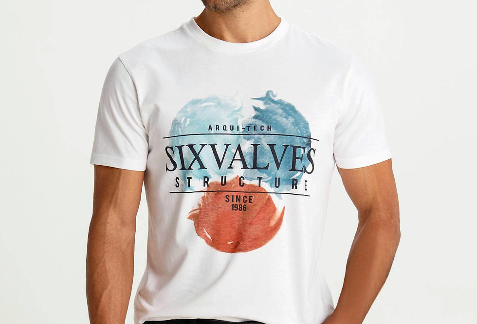 Camiseta estampada Six Valves