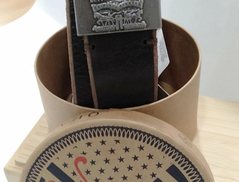 Cinturón Levi's 223863 de piel marrón